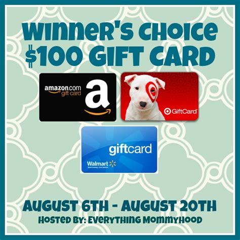 Can I Use Amazon Gift Card At Walmart - giveaway winner s choice 100 gift card back to school