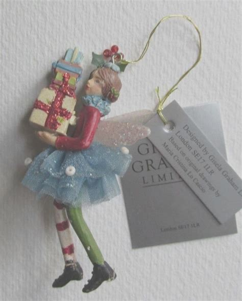 gisela graham christmas tree decoration small angel