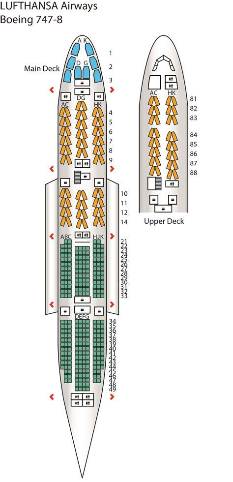 lufthansa seat map b747 8 config 1 lufthansa seat maps reviews