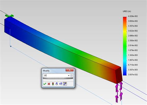 solidworks tutorial bending fea tutorial bending of a cantilever beam in solidworks