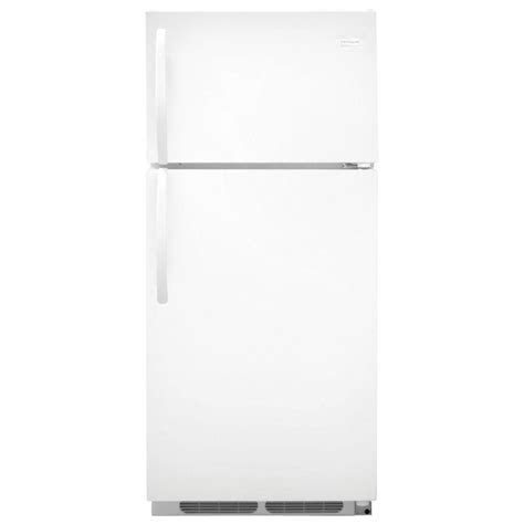 frigidaire 16 cu ft top freezer refrigerator in white