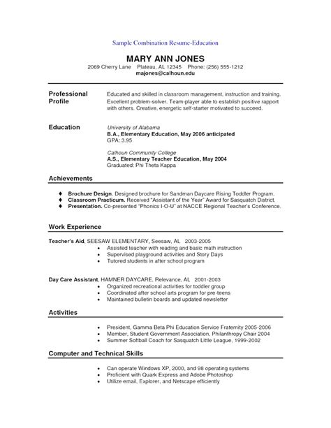 creative combination functional and chronological resume template sle combination resume