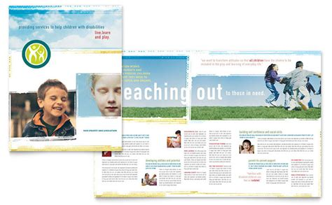 educational brochure templates special education brochure template design