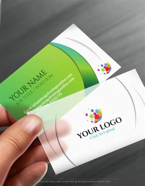 business card template app free business card maker app 3d wave business card template