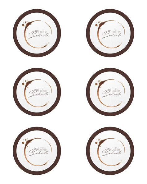 printable coffee jar labels diy coffee scrub with free printable label the cottage