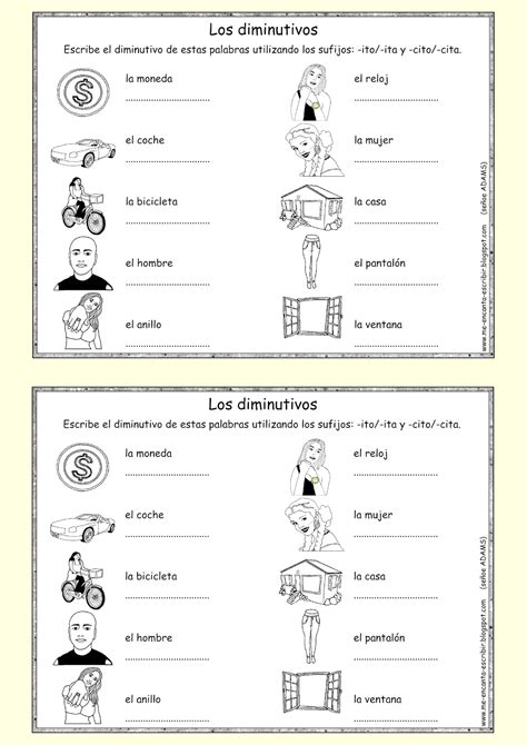 ejercicios para aprender espa ol ejercicios de me encanta escribir en espa 241 ol spanish project