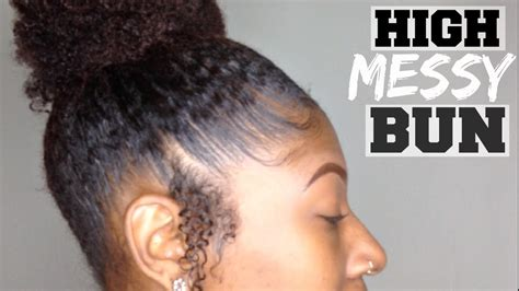 how to make a high bun with kinky twist high messy bun for thick kinky short medium natural