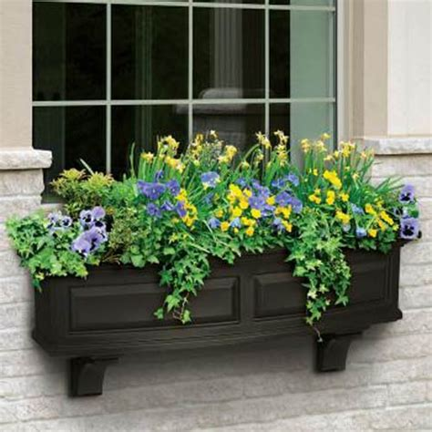 window flower box design flower window garden box design outdoors