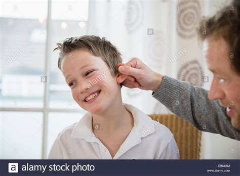 pulling s ear stock photo 73983104 alamy