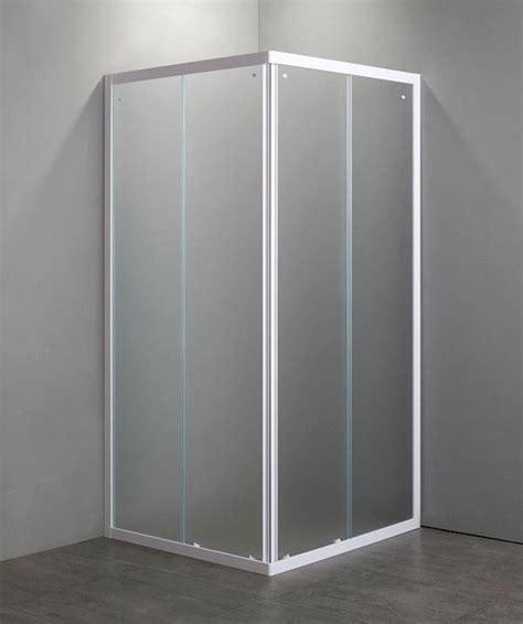 box doccia in cristallo temperato box doccia quadrato 75x75 in cristallo temperato da mm 4