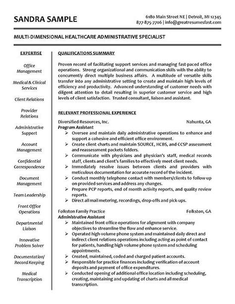 Resume Profile Exles Healthcare Administration The World S Catalog Of Ideas