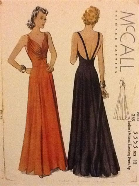 dress pattern evening wear 1930s backless evening or wedding dress patterns 1930s