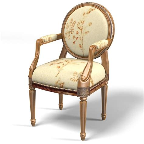 classic chair classic dining chair 3d model