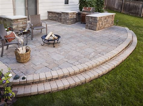 Patio Ideas For Flat Yard Anchor Block Company Beautiful Landscape Products Made