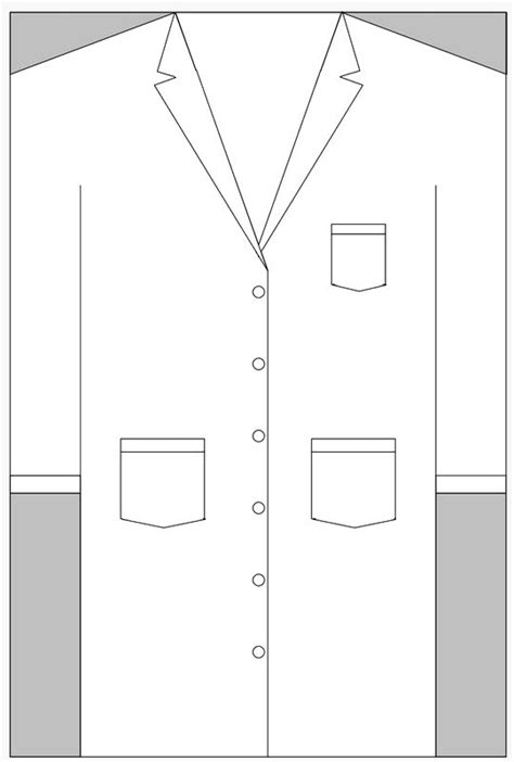 coat template lab coat cake template search tutorials