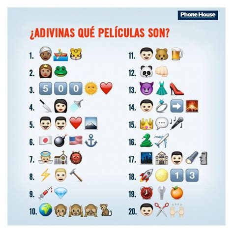 cadenas whatsapp emojis la corneta 40 on twitter quot 161 adivina las pel 237 culas los