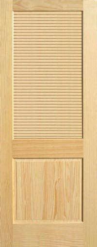 Half Louvered Interior Doors Pine Half Louvered Wood Interior Doors Homestead Doors