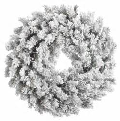 Snow pine heavily flocked artificial christmas wreath unlit ebay
