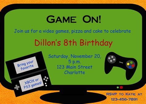 Video Game Party Invitations Video Game Party Invitations Together With A Picturesque View Of Gaming Invitation Template