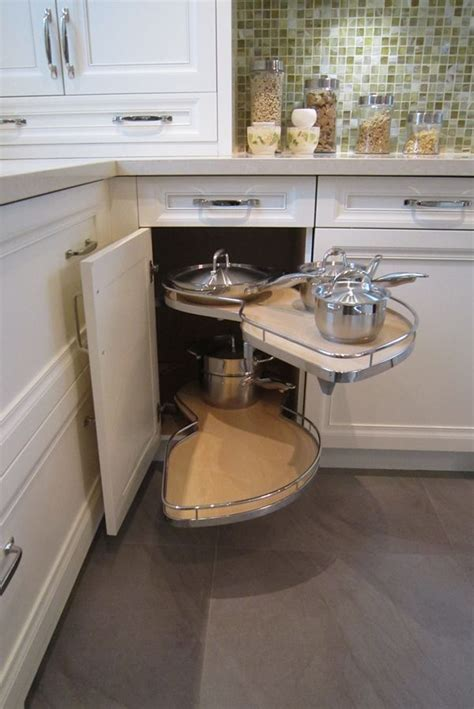 small corner cabinet for kitchen the most of a small kitchen corner space le mans trays which allow you to easily access