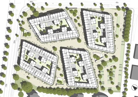 site planning and design boeselburg council and student housing kresings gmbh