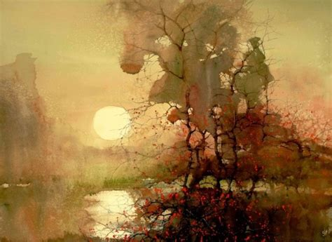 Landscape Artists Watercolor 15 Beautiful Watercolor Landscape Paintings By Zl Feng