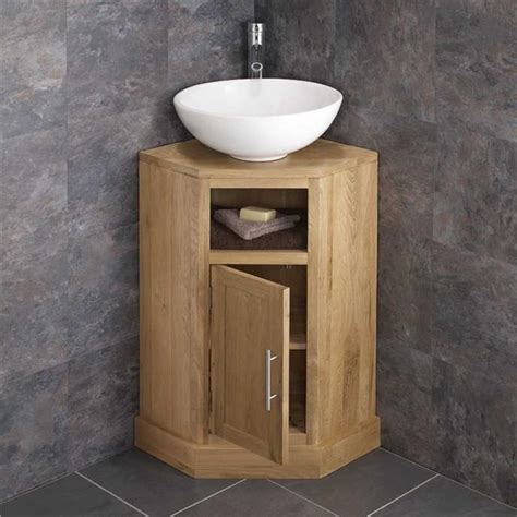 Bathroom Washbasin Cabinet by Cube Solid Oak Freestanding 55cm Washstand Sink Washbasin