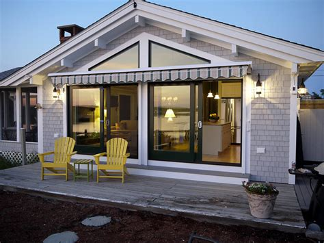 sliding door awning porch