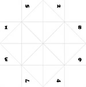 Origami Fortune Teller Printable - 7 best images of fortune teller template printable paper