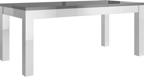 Charmant Ensemble Salon Salle A Manger Pas Cher #1: table-salle-a-manger-160cm-blanc-et-gris-laque-30.jpg