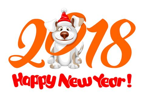new year 2018 year of what animal 2018 happy year of vector material 01 vector animal
