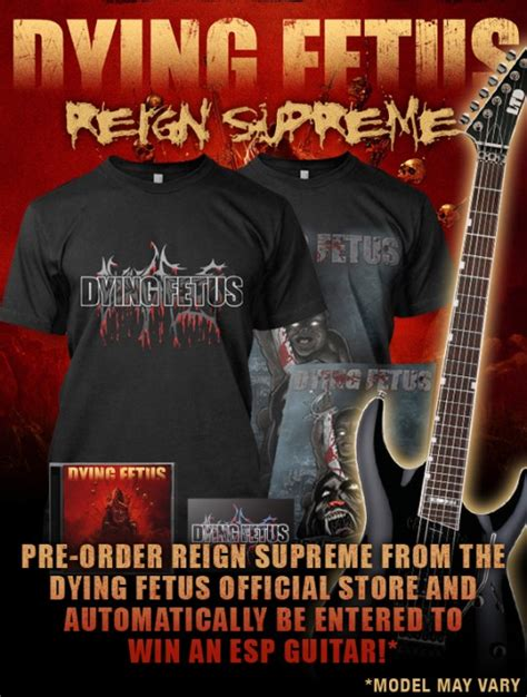 pre order dying fetus new album quot supreme
