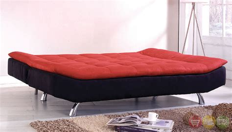 red and black futon malibu contemporary red and black futon sofabed with