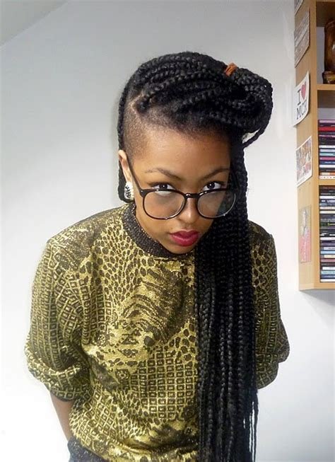 pictures with hair shaved to sides with micro braids how to style box braids curly by nature