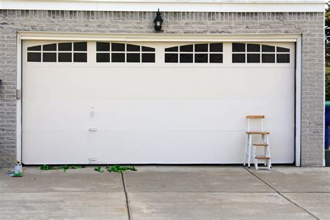Garage Door Faux Window Ballin With Balling Garage Door Facelift For Less Than 20