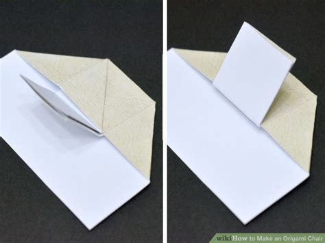 How To Make A Paper Chair - how to make an origami chair