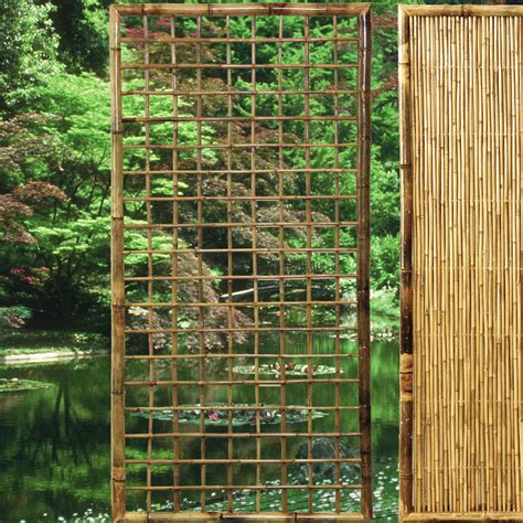 rankgitter als sichtschutz rankgitter bambus zen sichtschutz welt de