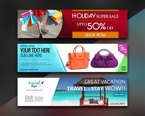 Banner Design Envato | web banner and ad banner design by xhtmlcut on envato studio