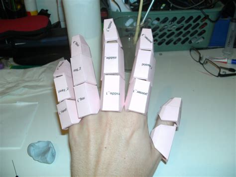 How To Make A Paper Iron Glove - iron pepakura 2 by cyber on deviantart
