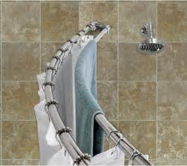 Curved Shower Curtains Stainless Steel Curved Shower Curtain Rod Rooms