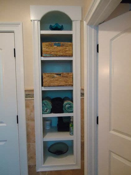 Built In Bathroom Shelves » Home Design 2017