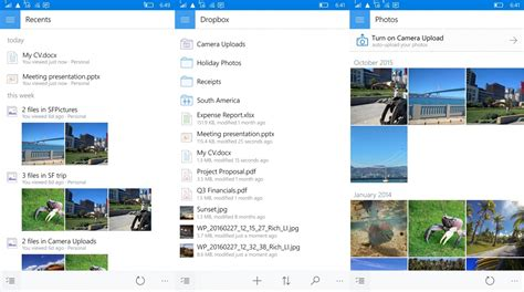 dropbox on mobile dropbox progresse encore sur windows 10 mobile avec une