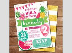Tropical Party Invitation   Luau Hawaiian Party Invitation ... Free Clipart For Baby Showers For Girls