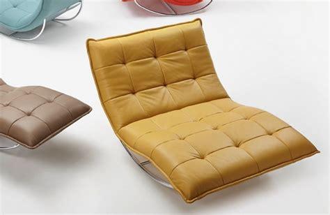 chaise longue de relaxation rockme xxl en cuir avec support