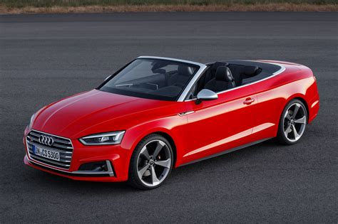 convertible audi red 2017 audi s5 and a5 cabriolet chop their tops at la by car