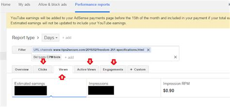 adsense cpm how to track adsense earnings of a single post