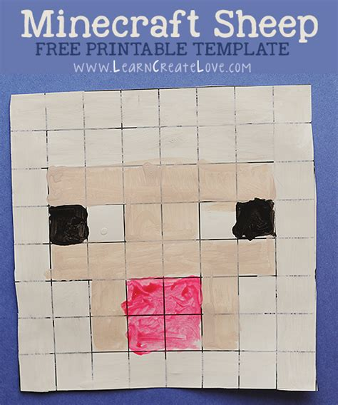 Minecraft Papercraft Sheep - 7 best images of minecraft arts and crafts printable
