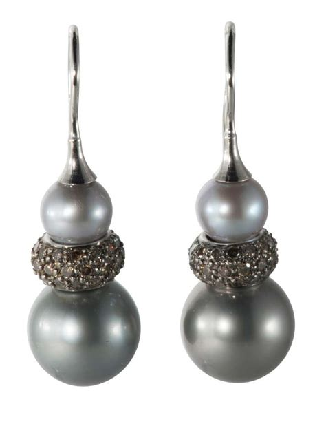 tahitian pearl drop earring for sale at 1stdibs