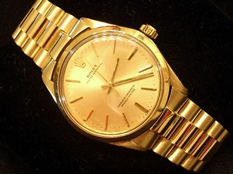 Rolex Oyster Perpetual Gold mens rolex 14k gold oyster perpetual no date president ebay