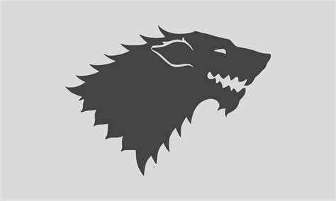 house stark the flag of house stark by achaley on deviantart